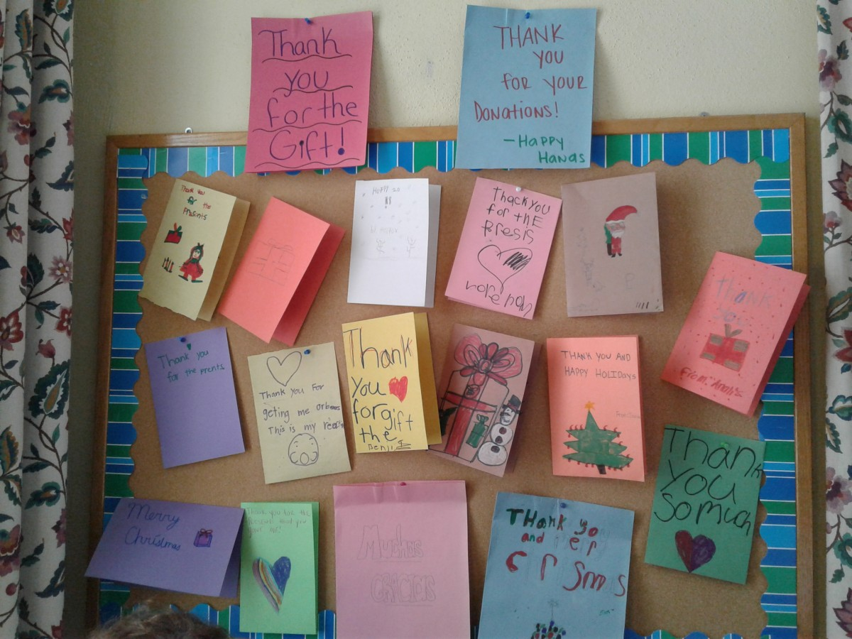 """Mission and Outreach Receive """"Thank You"""" cards"""